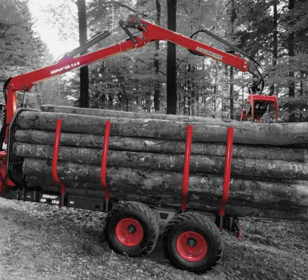 FORESTRY TRAILERS WITH CRANES
