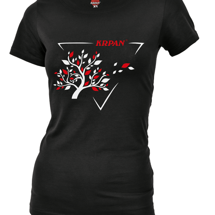 Damen T-Shirt schwarz TREE