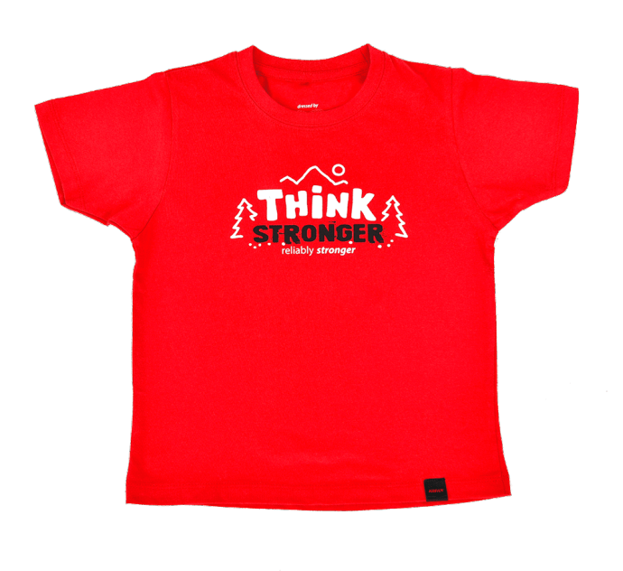 Kinder T-Shirt THINK STRONGER