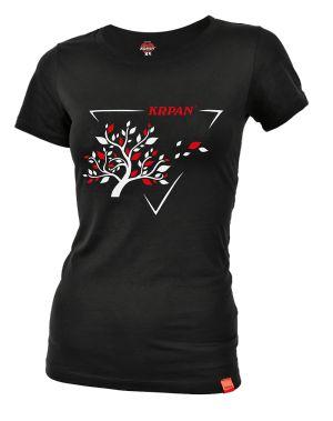 Women's black T-Shirt TREE