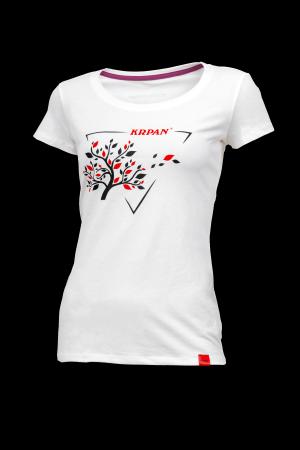 Women's white T-Shirt TREE