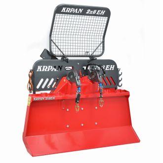 Krpan 2x8EH, montagem a três ontos (com a opção de rampa flexível)