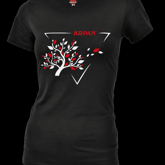 Ženska črna majica TREE