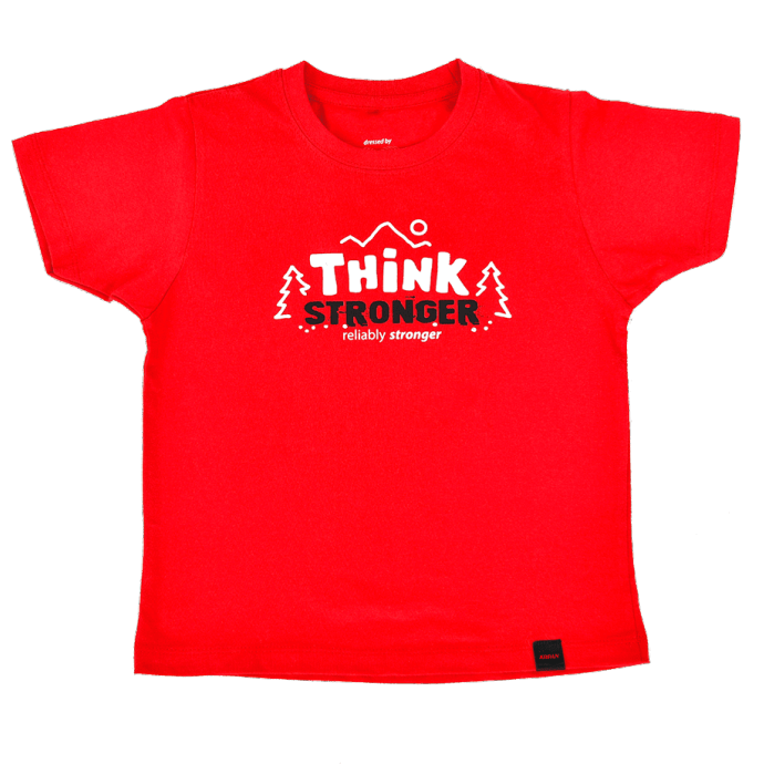 Otroška majica THINK STRONGER