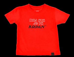 Otroška majica MOJ ATA JE PA KRPAN